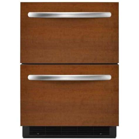 kitchenaid 5 drawer refrigerator counter depth kitchenaid double drawer 5 1 cu ft freezerless
