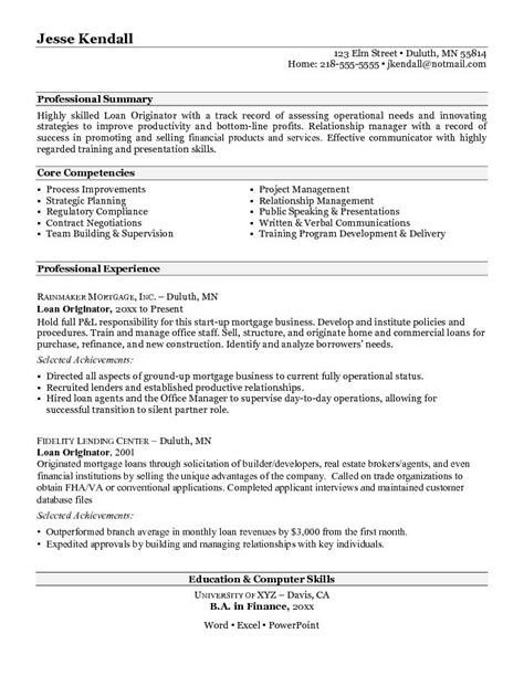 Officer Trainee Sle Resume by Loan Officer Description For Resume Resume Ideas