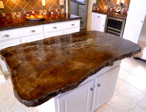 concrete countertops  prove  material suits