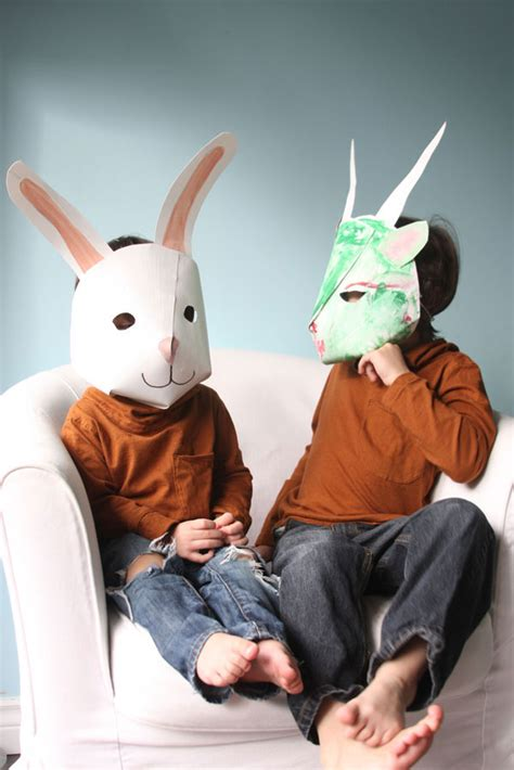 How To Make Animal Masks With Paper - 25 tutorials for a diy carnival