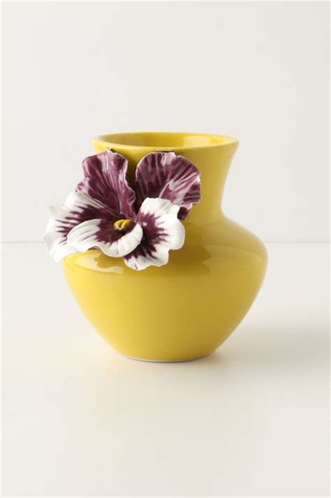 pretty pansy vase eclectic vases by anthropologie