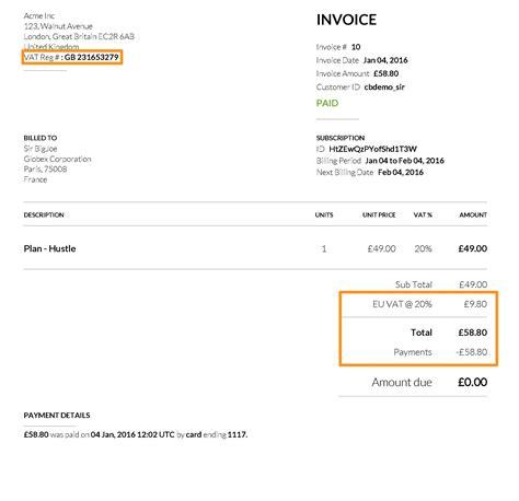 invoice  vat invoice template ideas