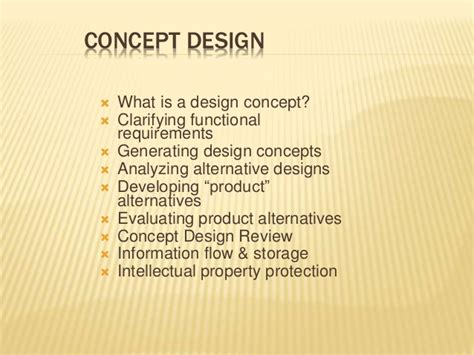 what is concept concept design
