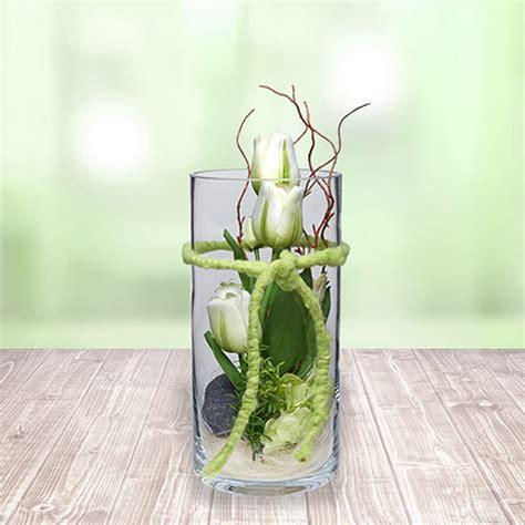 tulpen im glas dekorieren glas vase tulpen wei 223 30cm jetzt bestellen bei valentins