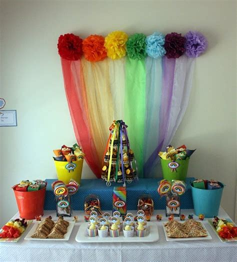 Another Rainbow Party I M Not As Interested In The Actual Rainbow Themed Centerpieces