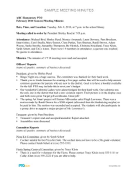 robert rules of order meeting agenda template