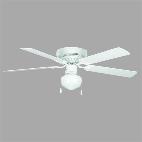 low profile white ceiling fan with light newsome 42 in indoor low profile fresh white ceiling fan with light kit 51080 the home