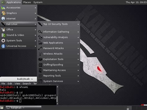 dica kali linux via live pen usb kali linux recipes mate 1 8 non root user recipe