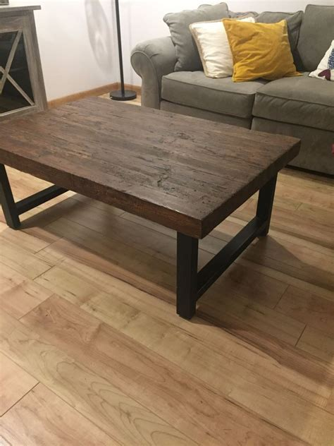 pottery barn quot griffin quot reclaimed wood coffee table ebay