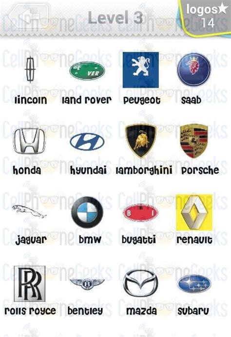 Auto Logo Quiz Level 3 by Logo Quiz Cars Answers Level 3 Logo Quiz Cars Answers