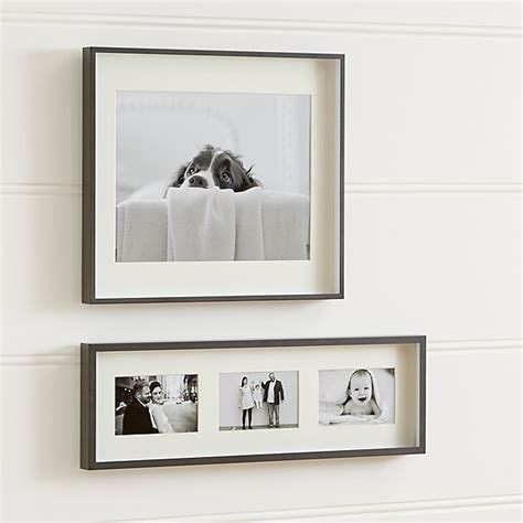 wall decor photo frame brushed gunmetal wall frames crate and barrel