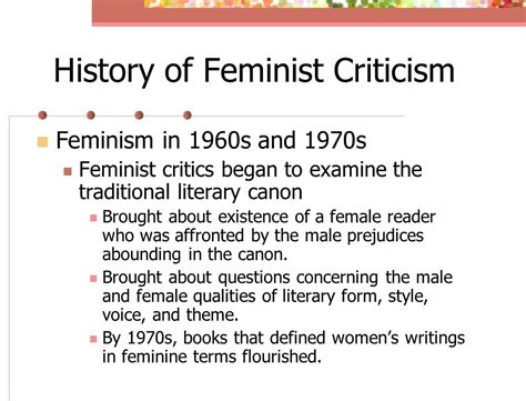 themes in feminist literature feminist criticism ppt download