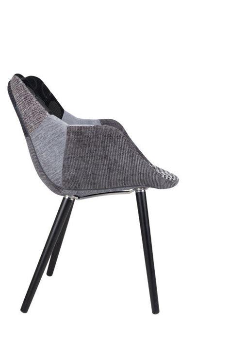 stuhl polster grau stuhl polsterstuhl twelve patchwork grau zuiver