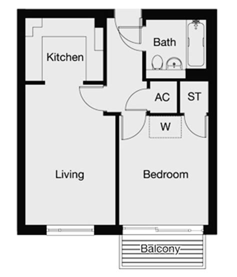 floor plan of one bedroom flat 10 rooms