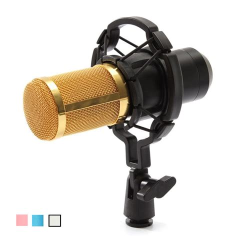 New 35mm Microphone Mic Pc Laptop Chat Record Tripod Stainless Metal bm800 recording dynamic condenser microphone with shock mount us 21 99