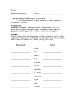 Nationalities In Worksheet by Speaking Countries Capitals And Nationalities