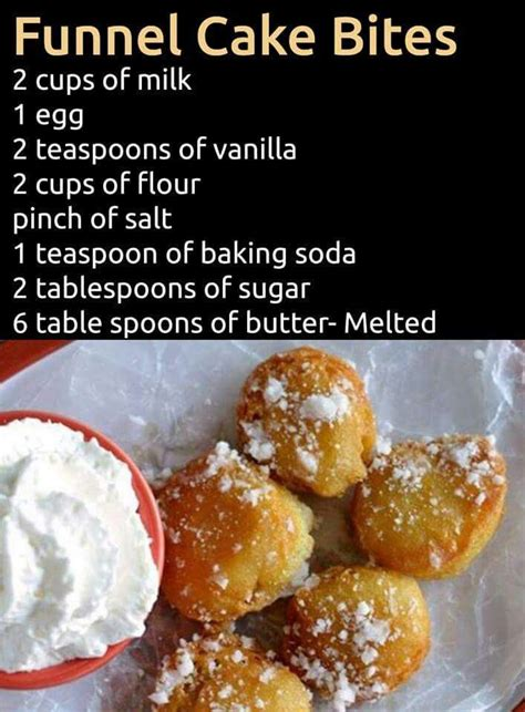 funnel cake bites desserts pinterest cake bites cakes and funnel cakes
