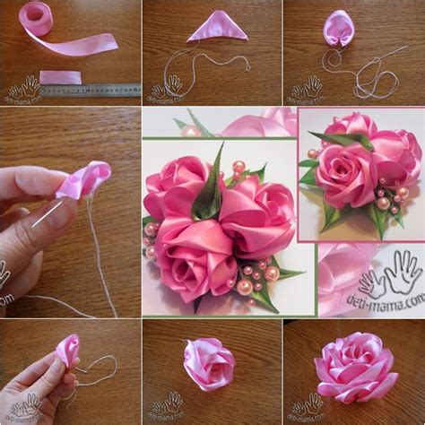 paper ribbon flower tutorial diy beautiful ribbon rose