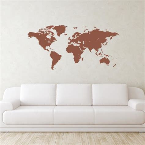 world map wall stickers world map wall decal