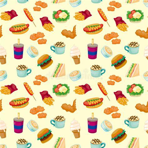 pattern illustrator food seamless fast food pattern stock vector illustration of