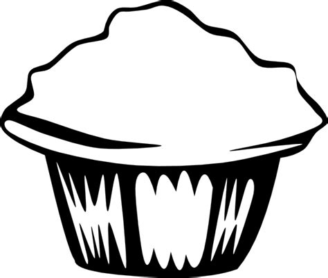 Generic Muffin B And W Clip Art At Clker Com Vector Muffin Coloring Page