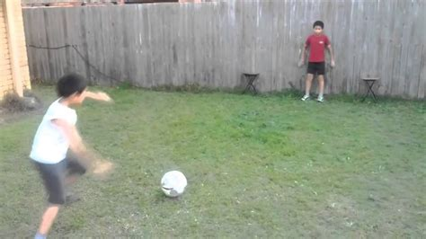 play backyard soccer backyard football play soccer goal keeping kicking