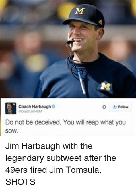 Jim Harbaugh Memes - 25 best memes about reap what you sow reap what you sow