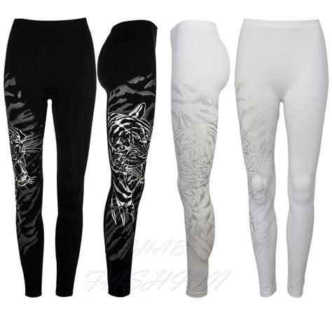 new pattern leggings new ladies womens patterned leggings tiger print black