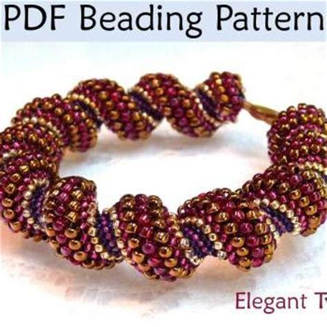 pdf jewelry pattern cellini spiral tubular peyote