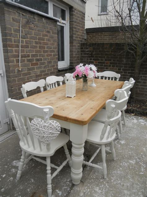 shabby chic dining tables and chairs with ideas photo