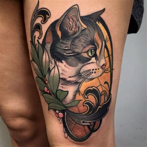 tattoo cat neo traditional 794 best well done tattoos images on pinterest