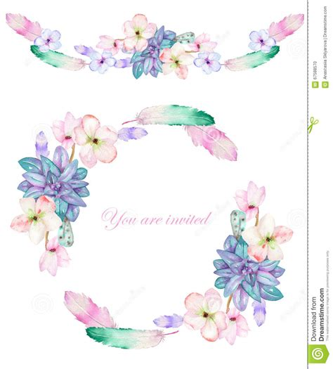 A Circle Frame Wreath And Frame Border With The