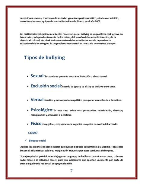 ejemplos de bulling newhairstylesformen2014 com monografia del bullying del bullying
