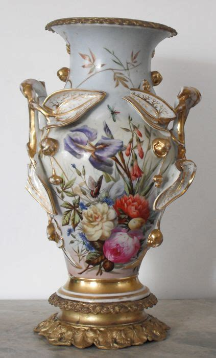capodimonte vase large capodimonte porcelain vase with mercury gilded