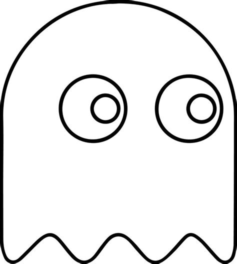 pacman ghost coloring page pac man ghost video game characters pinterest ghosts