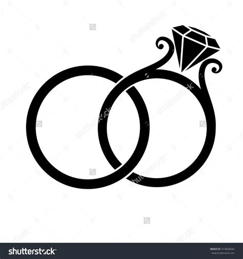 Wedding Rings Clipart by 310 Best Images About Silhouettes On Discover