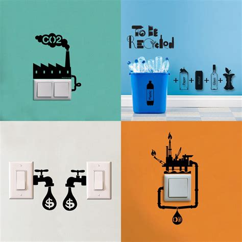 energy wall stickers apply fun wall decals to your power switches for a