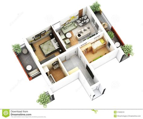 3d Floor Plan Stock Illustration Image Of Design | 3d floor plan stock illustration image of generated