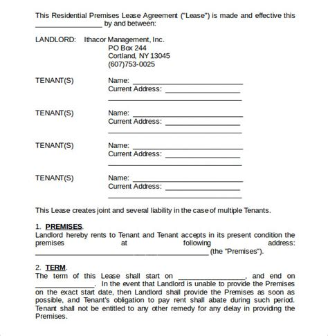home lease agreement template sle home lease agreement 12 free documents in pdf word