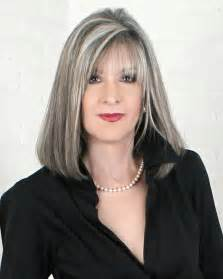 beautiful gray hair streaks author hank phillippi ryan