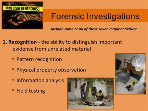 pattern recognition evidence forensics ch 3 notes