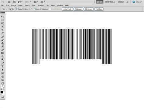 give someone a barcode tattoo with photoshop tipsquirrel