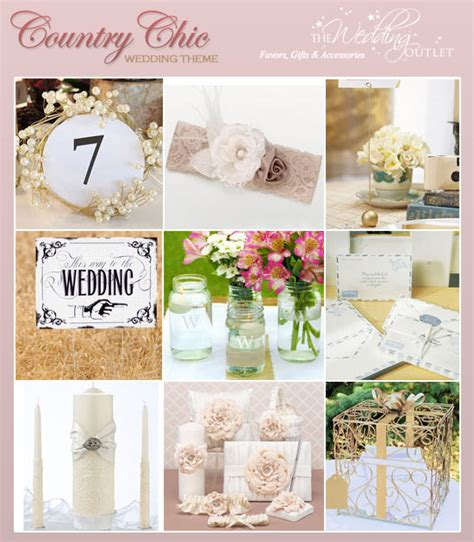 9 ideas for a rustic and country chic wedding theme