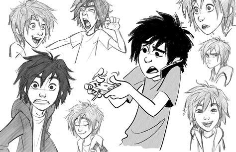 Big 6 Sketches by Jin Desenhando Os Personagens De Big 6 Thecab