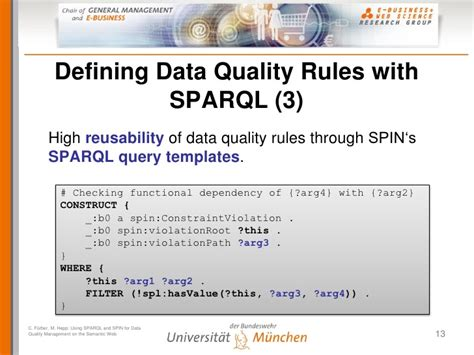 using sparql and spin for data quality management on the
