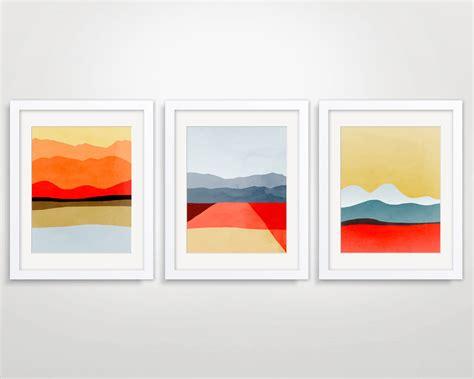 mid century modern abstract print modern wall