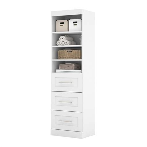 Closet Drawer Unit by Bestar Pur 25 Quot 3 Drawer Storage Unit In White 26871 17