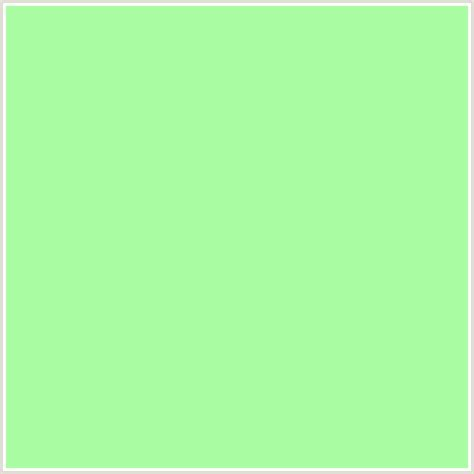 what colors go with light green aafca3 hex color rgb 170 252 163 green mint green