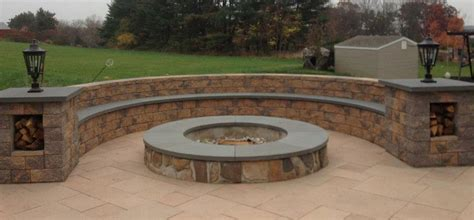 Custom Firepits Custom Outdoor Fireplaces Pits In Chester Montgomery County Pa Wja Landscaping Www