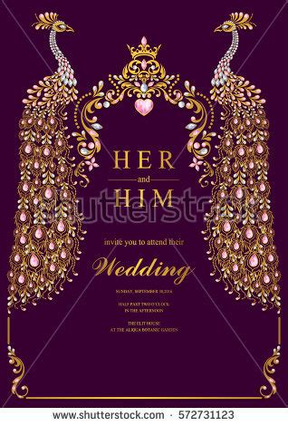 wedding invitation ecards india indian wedding invitation card templates gold stock vector 572731123